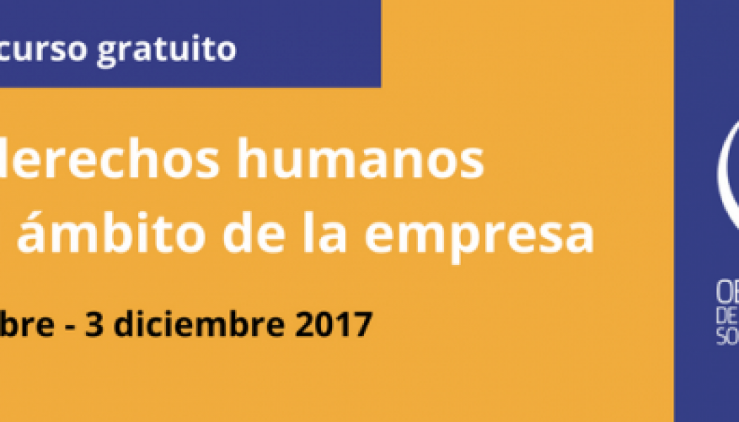 Curso gratuito sobre empresa y derechos humanos