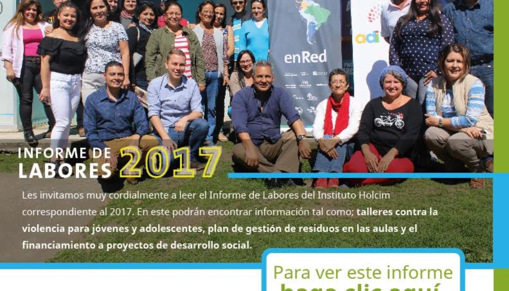 Instituto Holcim presenta informe de labores